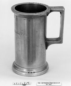 Tankard (Measure), French (pewter)