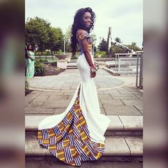 Take a look at these stylish Ankara Prom Dresses dresses that were made by the African designer, @Bernadoll by Nancy Boateng. What do you think?