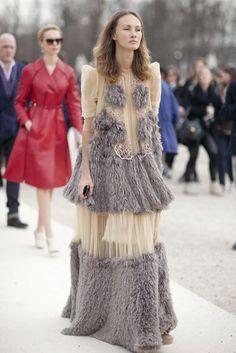 Paris Fashion Week Fall 2013 #pfw #streetstyle
