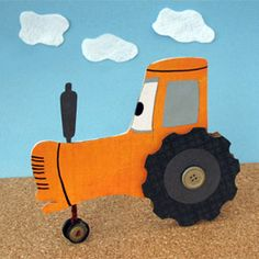 Tippy Cardboard Tractor Craft for Cars birthday party Craft Activities For Kids, Projects For Kids, Art Projects, Crafts For Kids, Craft Ideas, Diy Ideas, Tractor Crafts, Farm Crafts, Cars Birthday Parties