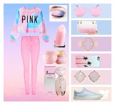 """""""PINK """" by emilysaneha on Polyvore featuring Chicnova Fashion, Vans, Moschino, Casetify, Kate Spade, Eos, BP., women's clothing, women and female"""