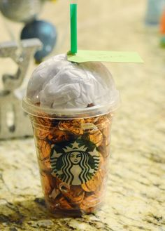 Clever way to gift a coffee gift card from starbucks!