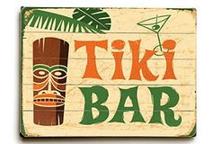 Wood Tiki Bar Signs Are Available Here We Have A Wide Selection Of To Choose From Beach Sign By Dean Miller Will Add Aloha Any