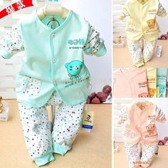 b81420f419 2015 new baby clothing baby s set 100% cotton baby kids boy and girl  clothes 3 colors