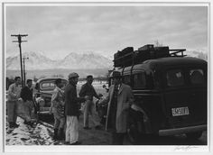 Some 10,000 people would be housed at Manzanar. Photos taken by Ansel Adams.