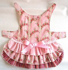 Pretty Pink DOG Dress Harness 3 layer cake Ruffled by spotNotz, $23.00 by charmaine