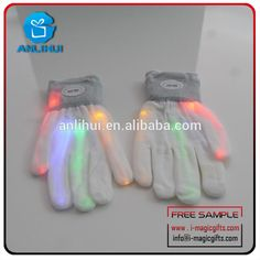 Wholesale Flashing products LED Gloves as Rave Party Favor #5_finger_shoes, #Products