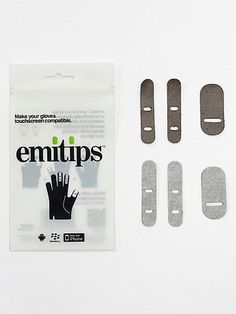This winter, don't let the cold weather keep you from texting with these iron-on strips for your gloves. Scientifically designed material allows you to operate any touchscreen device without taking your gloves off.