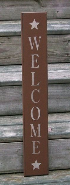 Welcome Country Primitive Sign Medium by thecountrysignshop, $13.00