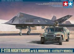 Tamiya 89773 Nighthawk With Utility Vehicle for sale online Tamiya Models, Boeing Aircraft, Model Airplanes, Military Aircraft, Cars For Sale, 4x4, Fighter Jets, Vehicles, Scale