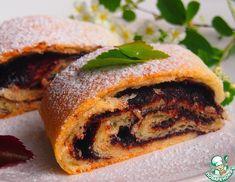 Рецепт: Рулеты с шоколадной начинкой Sweet Bakery, Sandwiches, Bread, Recipes, Food, Breads, Baking, Meals, Eten