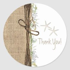 Shop Rustic Coastal Beach Starfish Burlap & Greenery Classic Round Sticker created by printabledigidesigns. Burlap Projects, Burlap Crafts, Wood Crafts, Wood Projects, Wood Wreath, Diy Wreath, Wooden Door Signs, Architecture Art Design, Porch Signs
