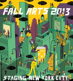 The Village Voice Fall Arts Guide Cover Illustration on Behance