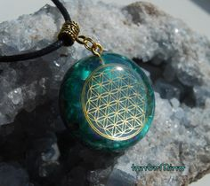 Flower of Life Labradorite Orgonite Necklace by InnerMind on Etsy