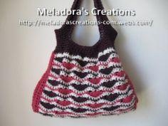 Wavy Stitch Handbag - Meladora's Creations Free Crochet Patterns & Tutorials