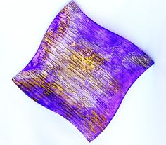 "Decorative or Dessert Plate_Violet Fantasy by EvaArtWorld on Etsy Glass Plate high quality, square, hand painted with non-toxic paint . Multicolored: golden and violet. The color evolves depending on the light. Painted on the bottom, not on the surface. Safe in a dishwasher at low temperature.   Size 10"" x 10""   $35 https://www.etsy.com/listing/223173463/decorative-or-dessert-plateviolet?utm_source=Pinterest&utm_medium=PageTools&utm_campaign=Share Thank you for visiting!"
