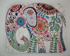 Mouse Pad mousepad / Mat Rectangle Pretty Elephant by Laa766, $9.25 chic / cute / preppy / teacher / student / laptop accessory / desk accessory / office decor / graduation / dorm / gift/ patterned