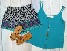 This new Button Detail Tank in Teal is just $28! Shop it at Entourage today! Free shipping on ALL orders ALL the time!