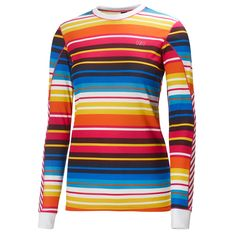 Helly Hansen Active Flow Base Layer Top - Crew Neck, Long Sleeve (For Women) Graphic Long Sleeve Shirts, Winter Running, Helly Hansen, Sweet Life, Workout Gear, Flow, Layers, Crew Neck, Men Sweater