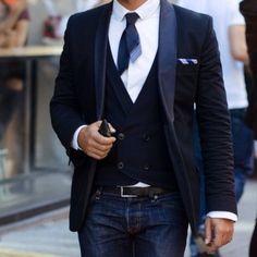 jacket blue navy waist coat fashion cool men guys