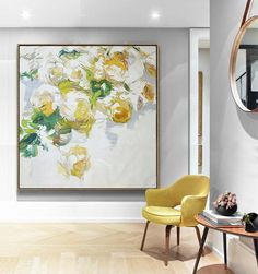 Abstract Flower Oil Painting #LX40A