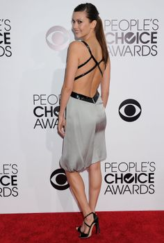 Olga Fonda Wearing Giorgio Armani at 2014 People's Choice Awards in Los Angeles