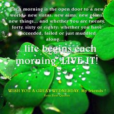 Each Morning Is The Open Door To A New World New Vistas New Aims New Plans New Things