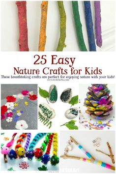 25 easy nature crafts for kids to make this summer