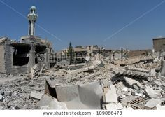 TYRE, LEBANON - JULY 31: Buildings destroyed by Israeli bombing in the city of Tyre on July 31, 2006, Tyre,Lebanon.