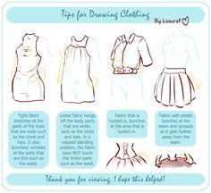 Tips For Drawing Clothing by =LaauraF on deviantART