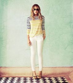 Stripes, Meet Whites   Womens Lookbook: Shop By Look   ToryBurch.com