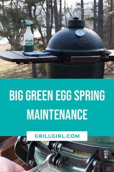 Big Green Egg Spring Maintenance – Famous Last Words Big Green Egg Bbq, Big Green Egg Table, Green Egg Grill, Green Eggs, Best Bbq Recipes, Grilling Recipes, Vegetarian Grilling, Healthy Grilling, Barbecue Recipes