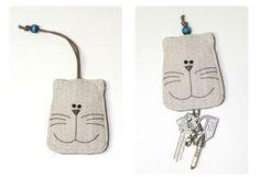 韩国猫猫钥匙包教程