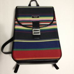 counterfeit multi-stripe backpack.