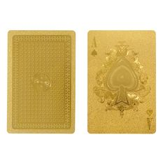 Gold waterproof Playing Cards