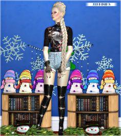 Sims 4 CC's - The Best: Decoratives XmasDinner Snowman's Vol5 by JenniSims...
