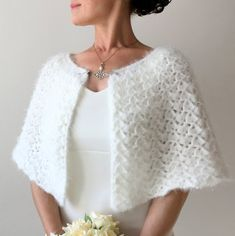 All orders will be shipped express via UPS Express. The delivery time is business days. More shawls and wraps: Crochet Cape, Crochet Shawl, Knit Crochet, Bridesmaid Shawl, Crochet Wedding, Diy Scarf, How To Purl Knit, Capelet, Crochet Fashion