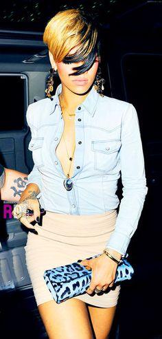 RiRi ❤ Her fashion sense is off the meter!!  Love the hair too