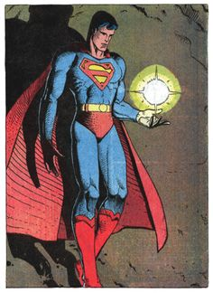 """One my favorite Superman images.  """"Star Child"""" by French artist Moebius.  From the Mid 1980's Superman #400 by DC comics."""