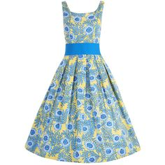 'lana' yellow floral party dress.