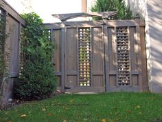 Wood fences and gates in contractor garden gates contemporary fencing ... (another example of peek-a-boo fencing)