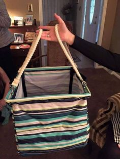 Square bin with rope Handles!!! Awesome! A new way to use the new top handles! Thirty-One gifts Spring & Summer 2015!