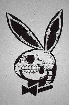 Playboy bunny skull.