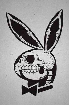 Playboy bunny skull.                                                                                                                                                                                 Más