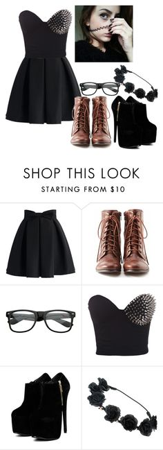 """""""Black Party"""" by thaisa-tcs ❤ liked on Polyvore featuring moda, Chicwish, Liz Claiborne, women's clothing, women's fashion, women, female, woman, misses y juniors"""