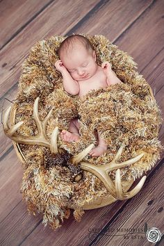 Captured Memories by Esta Eberhardt Photography | NEWBORNS deer antlers hunting