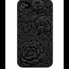 3-D Black iPhone 6 6s case cover 3D Rose Silicone Case Cover Skin For iPhone 6 or 6S. Back Soft Rubber Color- Black Accessories Phone Cases