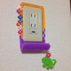 Rapunzell frame - smartphone holder perler beads by *Ringo*
