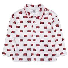 Pixie Dixie - Boys Red 'London Bus' Print Pyjamas   Childrensalon
