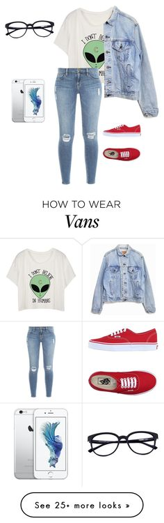 """midnight"" by moonhauntedmyocean on Polyvore featuring Frame Denim, Levi's and Vans"